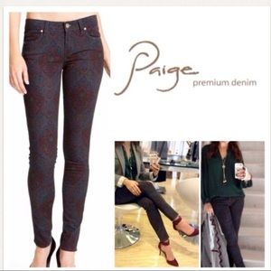 Paige Verdugo Ultra Skinny Paisley Print